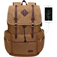 Deals on Modoker Canvas Laptop Rucksack Backpack 17-inch