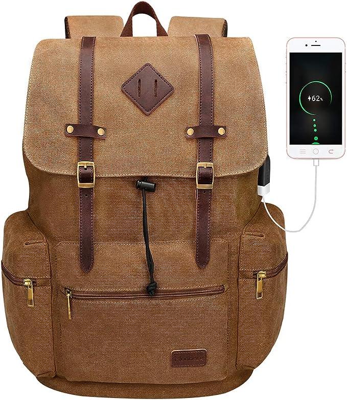 pkuvdsl-canvas-backpack-vintage-leather-laptop-rucksack