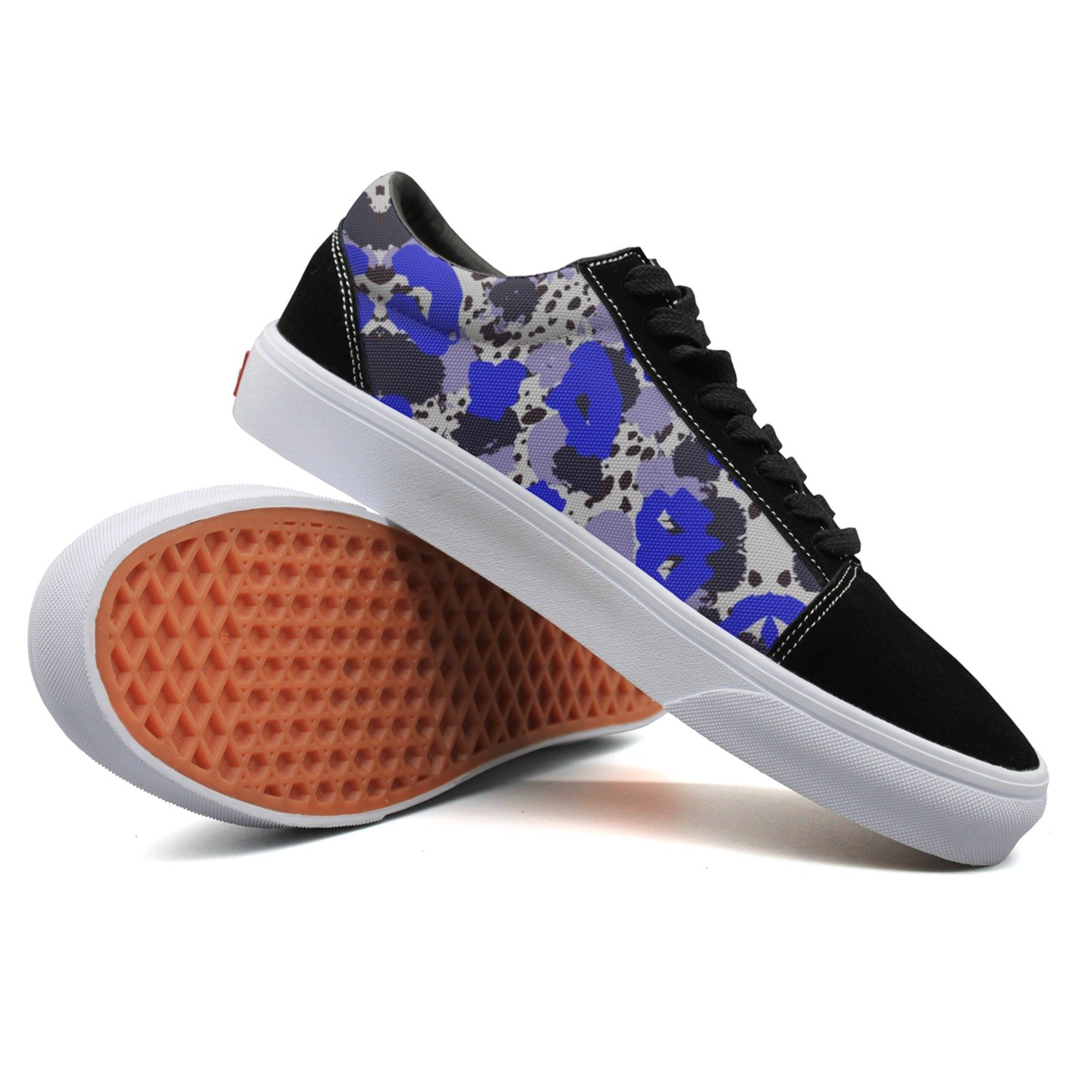 Armsttm Women Skate Shoes Abstract Painting Watercolor Classic Suede Sneaker Canvas Casual Shoes