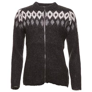 Icewear Hildur Women's Icelandic Wool Zip-through Sweater at ...