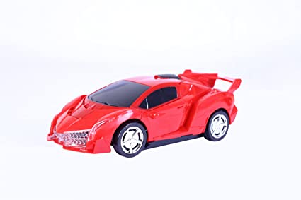 Kurtzy Sports Car Style Transformer For Kids Children (RED)