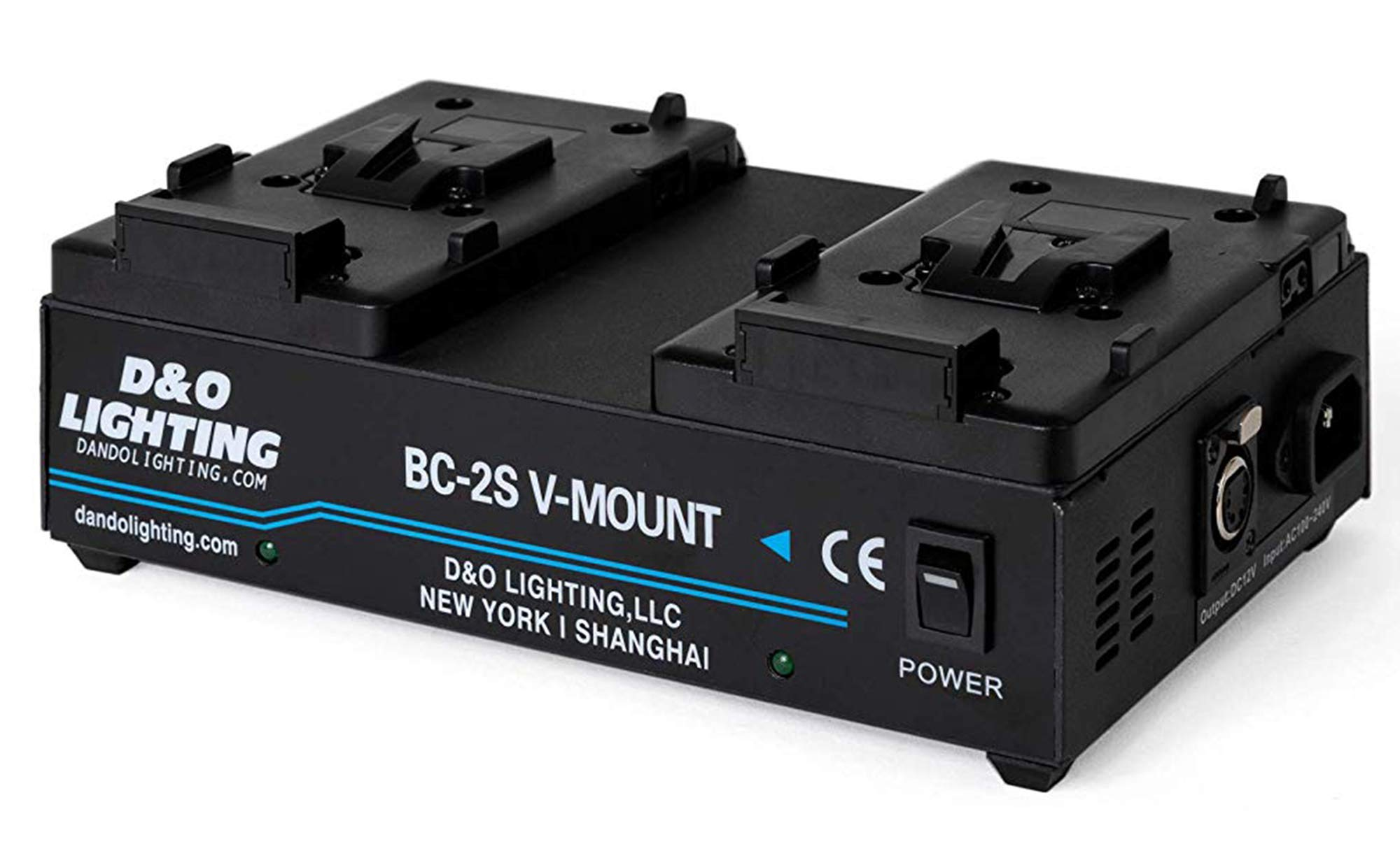 Dual Channel V-Mount / V Lock Battery Charger with 16.8V Power Supply Output by Comer