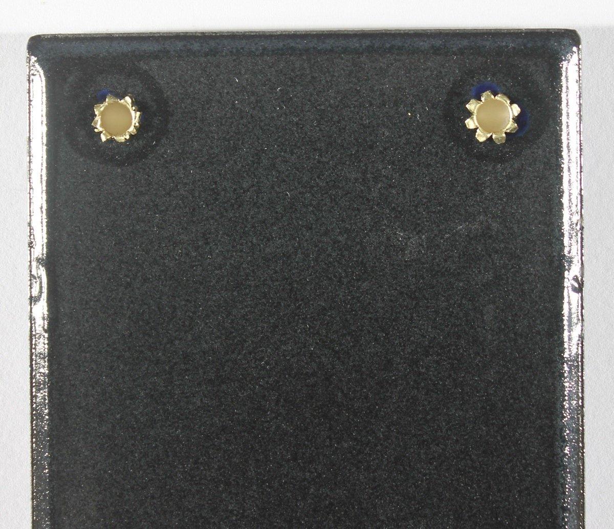 30 x 8 cm Buddel Bini Stra/ßenschild Bierkeller Emaille Kneipenschild blau