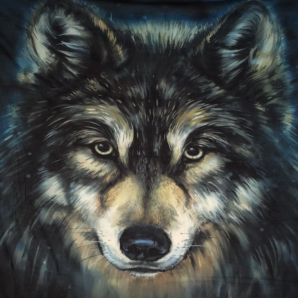 Xinhuaya Realistic Wolf Printed Wall Hanging Tapestry with Romantic Pictures Art Nature Home Decorations for Living Room Dorm Bedroom Decor in 51x60 inches (51 W by 60'' L, Multi 28) by Xinhuaya (Image #3)