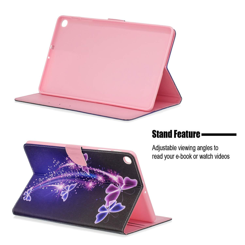 Folio Stand Multi Angles Etui Housse de Protection avec Pachette de Document pour Samsung Tab A 10.1 2019 XTstore Coque Etui pour Samsung Galaxy Tab A 10.1 2019 SM-T510//T515 Licorne
