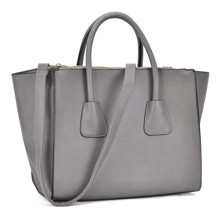 Dasein Women Winged Handbags Designer Shoulder Bag Structured Tote Satchel Purses