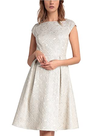 APART Fashion Damen Kleid 25732, Beige (Nude-Gold), 46: Amazon.de ...