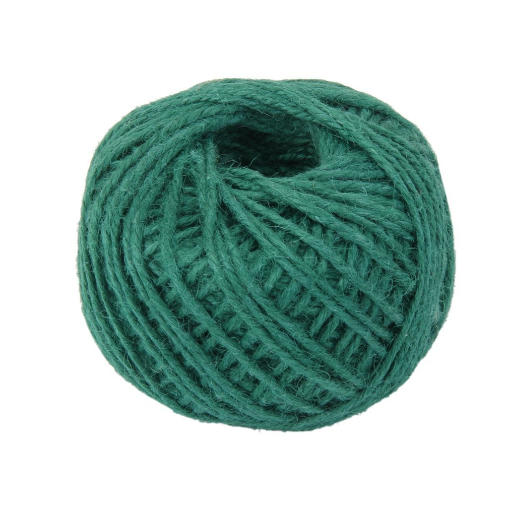Hosaire 150 Feet Natural Twine 2mm Hemp Cord Jute Rope String Gift Twine Industrial Packing Materials Arts Crafts Gardening Dark Green