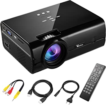 Proyector Full HD vemico 2200 Lumens 1080P LED Cine en casa Mini ...
