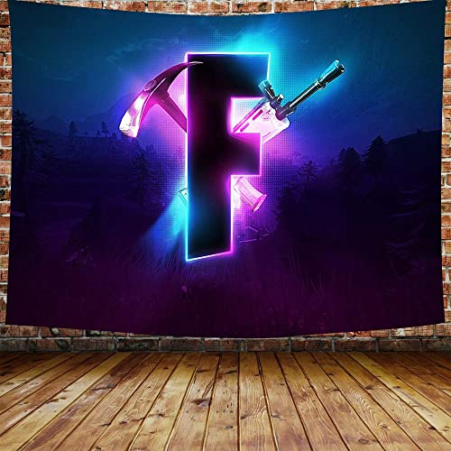 DBLLF Game Tapestry Competitive Game Logo Tapestry Video Battle Game Wall Hanging
