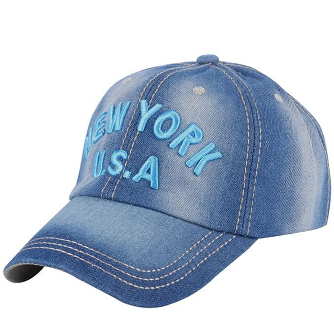 Llxln Hombres Mujeres Moda Cap Hat Designer Nueva Carta De Bordado De  Algodón Denim Moda Gorras Deportivas Chico Chica Gorras De Béisbol Azul  Azul  ... 4e5aefceb49