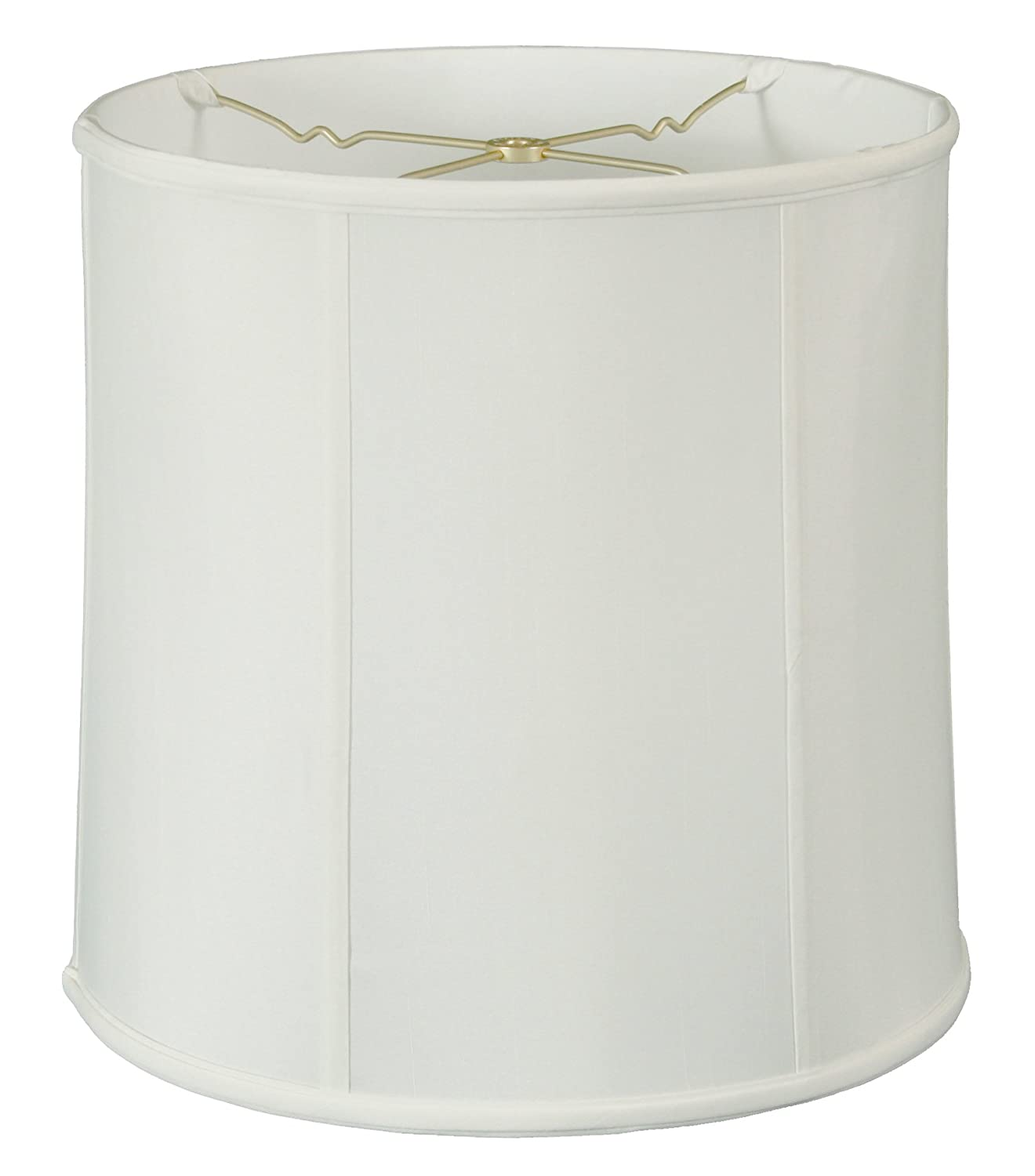 "Royal Designs BS-719-15WH Basic Drum Lamp Shade, 14"" x 15"" x 15"", White"