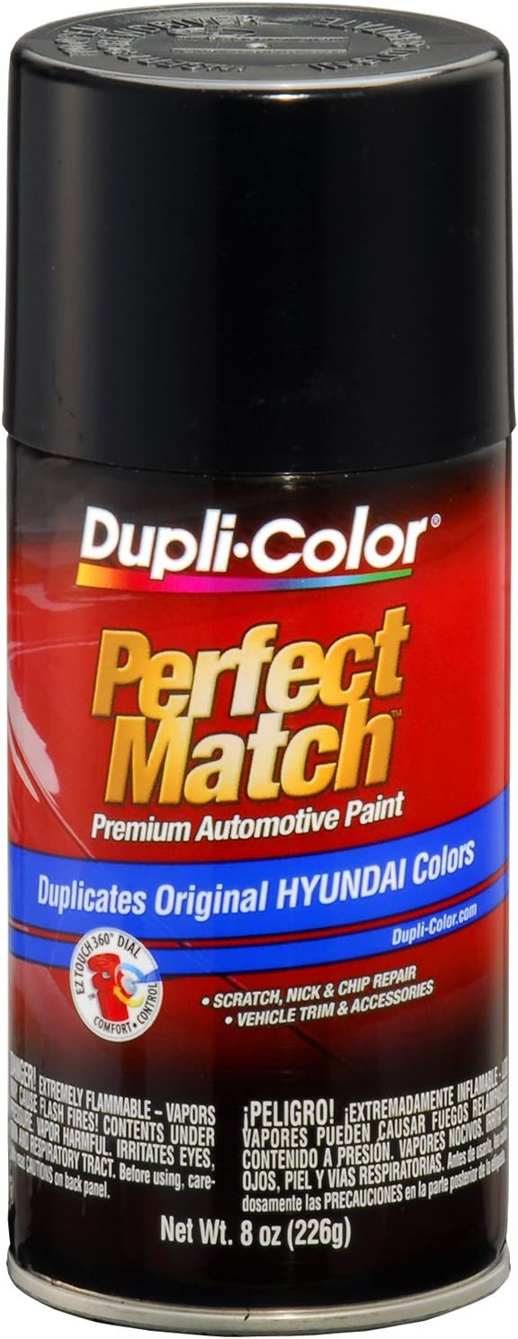 Dupli-Color EBHY18030 Ebony Black Hyundai Perfect Match Automotive Paint - 8 oz. Aerosol