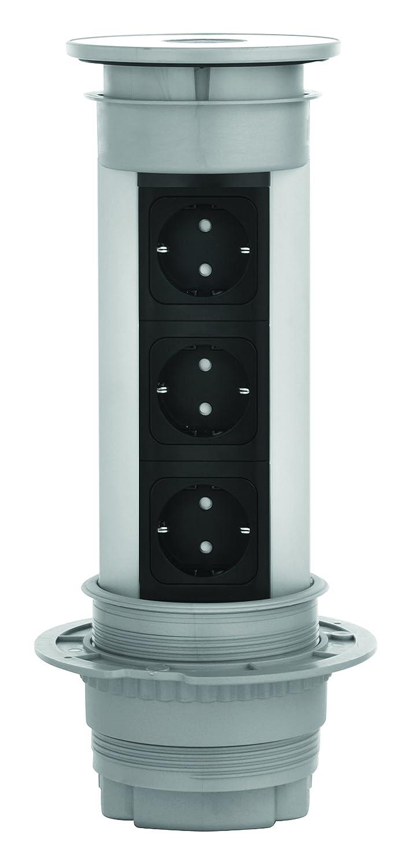Kopp 939610019 VersaELITE versenkbarer Steckdosenturm, 3400 W, Alu ...