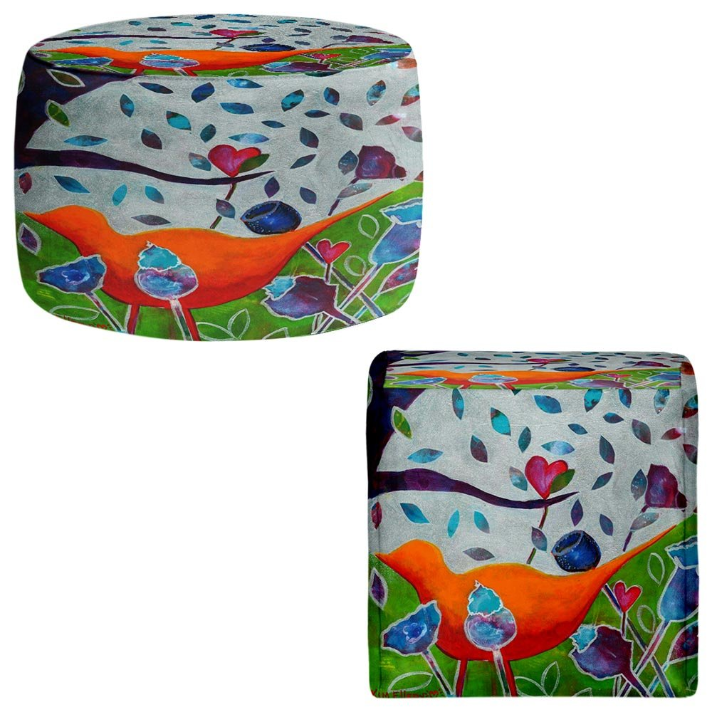 Foot Stools Poufs Chairs Round or Square from DiaNoche Designs by Kim Ellery - In Love