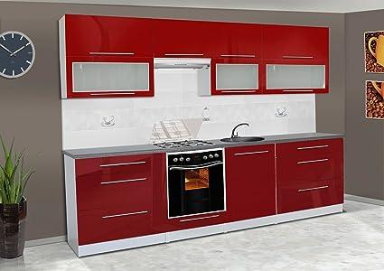 Kitchen Unit Kitchen Unit Built In Kitchen Cabinets Red High