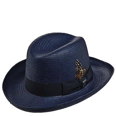 7f95bcca97d Stacy Adams Men s Toyo Homburg Fedoras Hat XL Navy