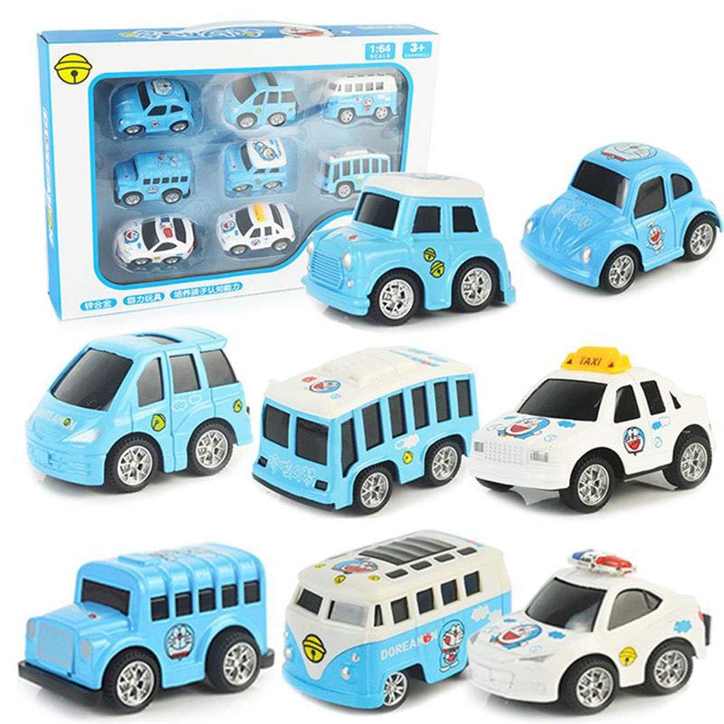 Juego de vehículos de 8 piezas con autos mini retirados, decoración de pasteles, juegos de juguetes de plástico, juegos de vehículos para niños de 3 años, autos de dibujos animados y vehículos de jueg