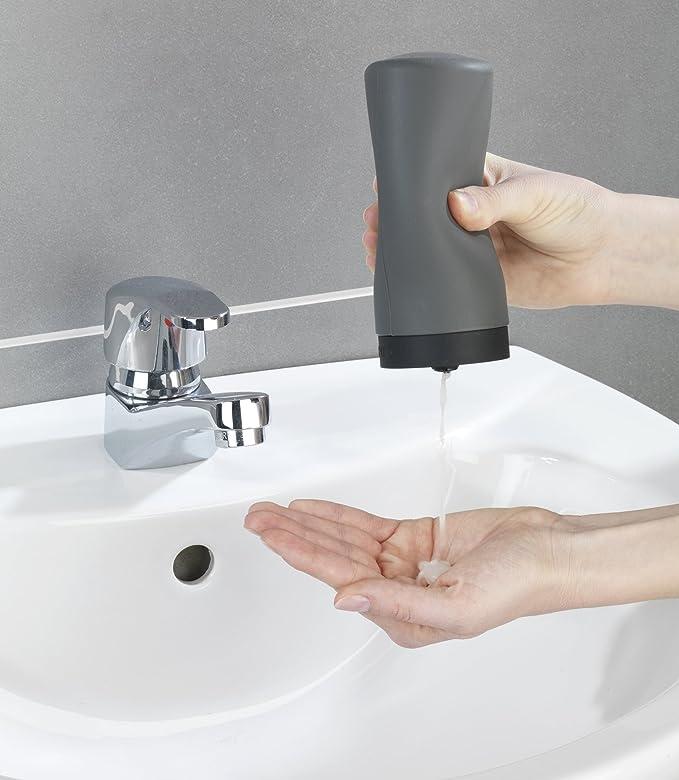Wenko Easy Squeez-E Dispensador de Detergente 0.25 L, Silicona, Gris, 6x6x14 cm: Amazon.es: Hogar