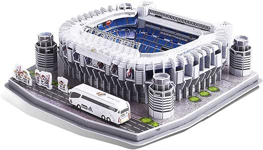GuDoQi Puzzle 3D para Niñas Niños y Adultos, Rompecabezas de Estadios de Futbol Santiago Bernabeu, Maquetas para Montar, Regalo de Juguete de Bricolaje, 160 Piezas: Amazon.es: Juguetes y juegos