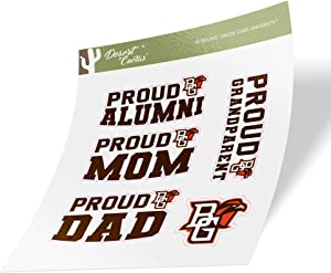 Bowling Green State University BGSU Falcons NCAA Sticker Vinyl Decal Laptop Water Bottle Car Scrapbook (Family Full Sheet)