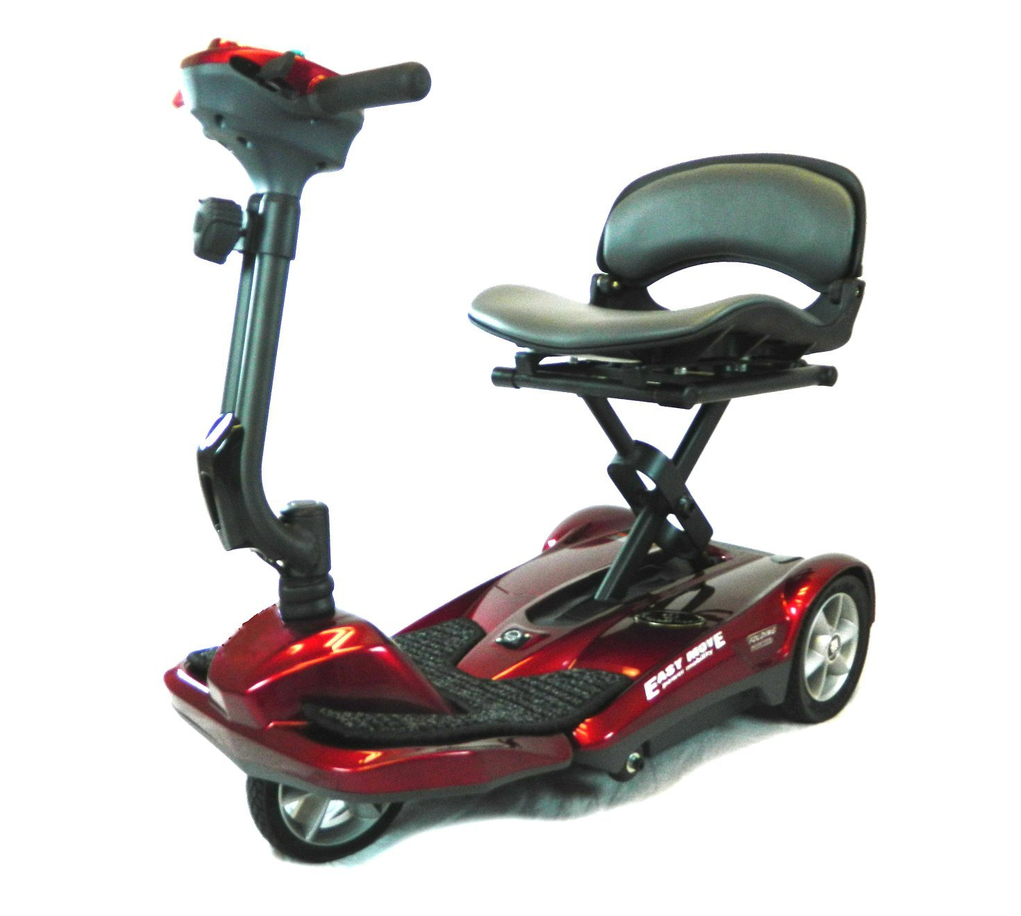 Heartway Passport Easy Move Mobility Scooter Remote Automatic Folding, Burgundy