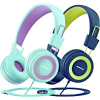 Mpow CH8 Kids Headphones with Microphone 2 Pack, Wired On Ear Headphones for Kids with 91dB Volume Limit, Online…
