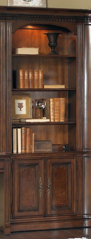Hooker Furniture European Renaissance II 32in Door Bookcase in Cherry