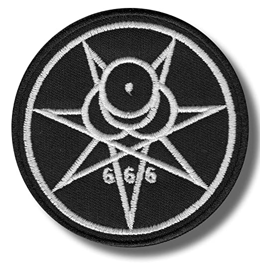 Number 666 8 X 4 cm bordado parche