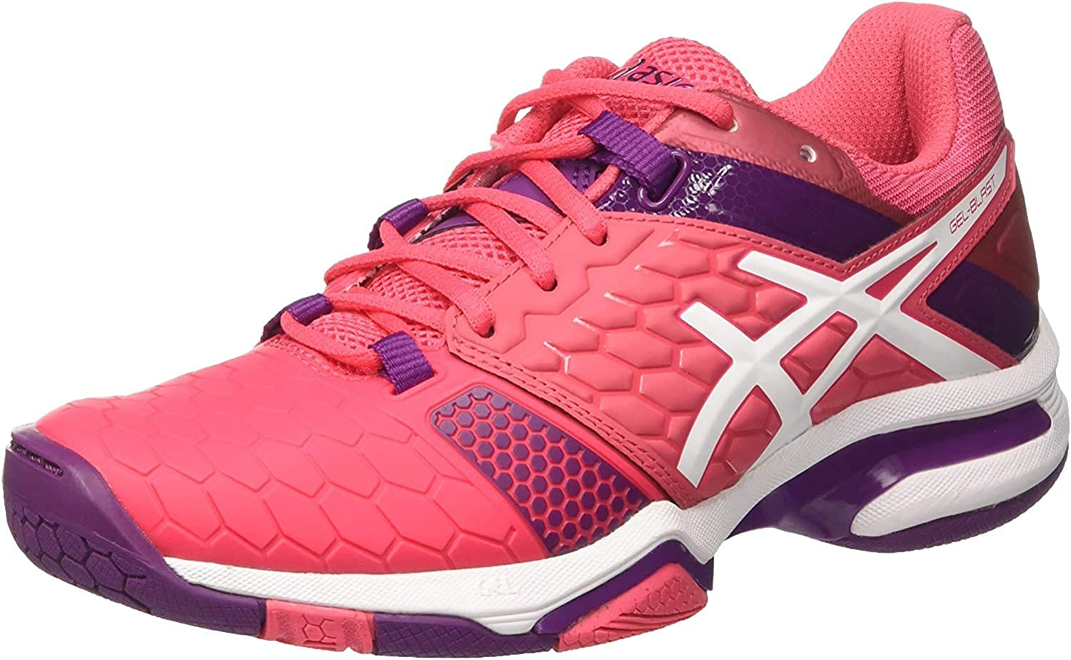 Asics Gel-Blast 7, Zapatos de Balonmano Americano para Mujer, Multicolor (Rouge Red/White/Prune), 36 EU: Amazon.es: Zapatos y complementos