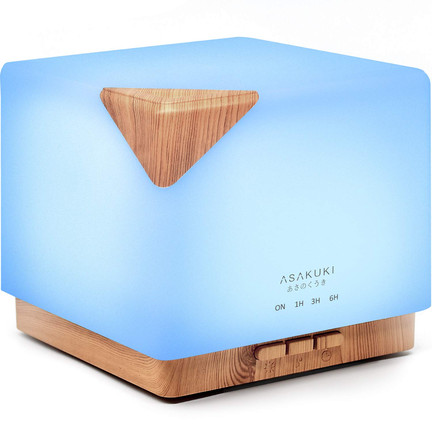 ASAKUKI 700ml Premium, Essential Oil Diffuser, 5 in 1 Ultrasonic Aromatherapy Fragrant Oil Vaporizer Humidifier, Timer and Auto-Off Safety Switch, 7 LED Light Colors by ASAKUKI
