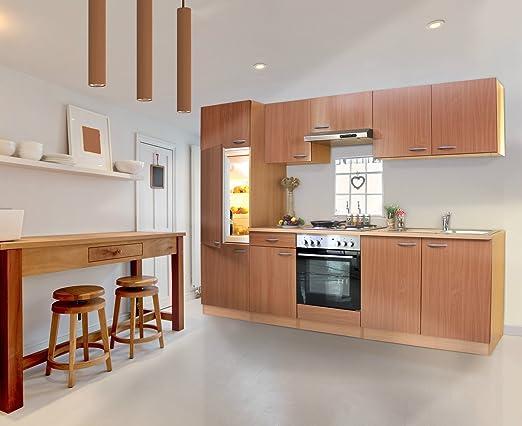 respekta KB270BBE Küche Küchenzeile Einbauküche Küchenblock 270 cm ...