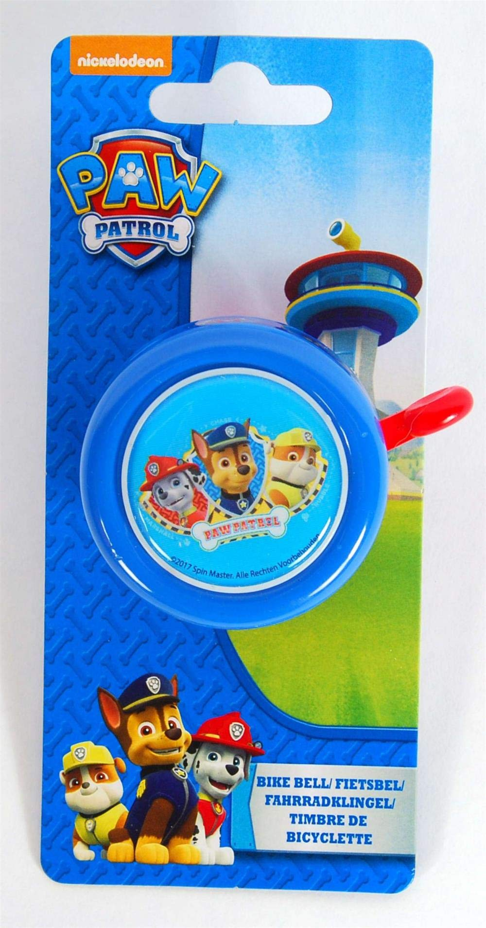 Kubbinga Kids' Paw Patrol Bicycle Bell, Multi-Colour, One Size