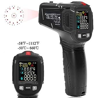 Termómetro de infrarrojos, láser digital sin contacto IR ...