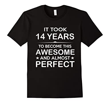 Mens Fourteen 14 Year Old 14th Birthday Gift Ideas For Boy Girl 2XL Black