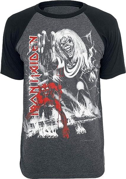 Iron Maiden NOTBBW Camiseta Gris Marengo/Negro XL