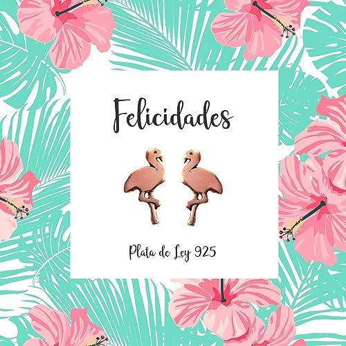 Pendientes flamencos Plata de Ley con baño de Oro rosa y con ...