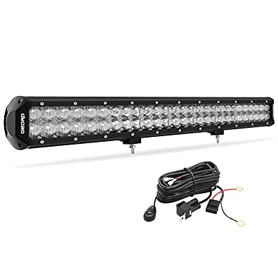LED Light Bar, OEDRO 26In 320W 22570LM with Advanced10D Fish Eyes Lens, Spot Flood Combo Lights Bar with Wiring Harness IP68 Grade Work Lights Off Road Light Fit for Pickup Jeep SUV 4X4 ATV UTE etc: Automotive