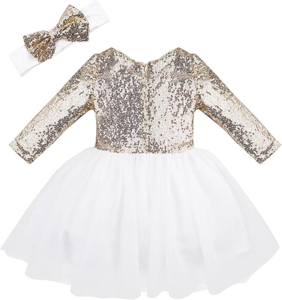 170b7cdd4 ... Brillante de Bautizo Traje de Danza Ballet Niña. Freebily Vestido  Fiesta Princesa para Bebé Niña (12 Meses-8 Años) Vestido Lentejuelas.  Atrás. Pulsa ...
