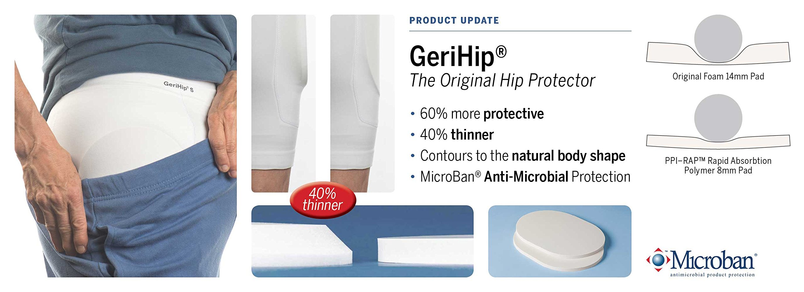 Prevent Products, Inc. | GeriHip® PPI-RAP™ Hip Protector Pads & Brief | Hip Protection For Elderly Falls, Increase Confidence Today!