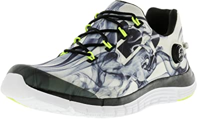 Reebok Women's Zpump Fusion Smoke Black/White Ankle-High Running Shoe - 7M