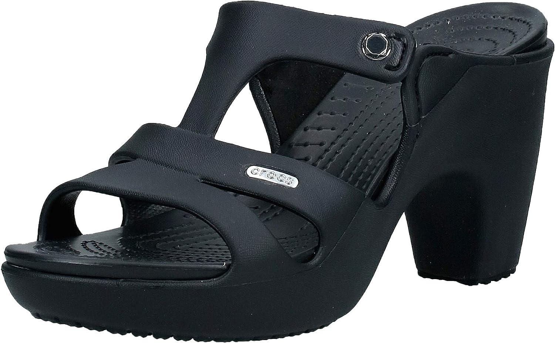 Crocs Cyprus V Heels Womens Size 5 *BLACK* NEW