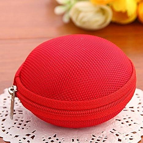 Rojo Cute Unisex moneda bolsa caso bolsa de almacenamiento Mini bolsa cartera bolsa tipo cartera bolso