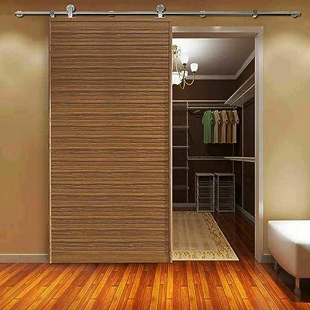 Juego de Puertas correderas de Madera de Acero Inoxidable para armarios de Cocina, Sistema de Pista, Color marrón: Amazon.es: Hogar