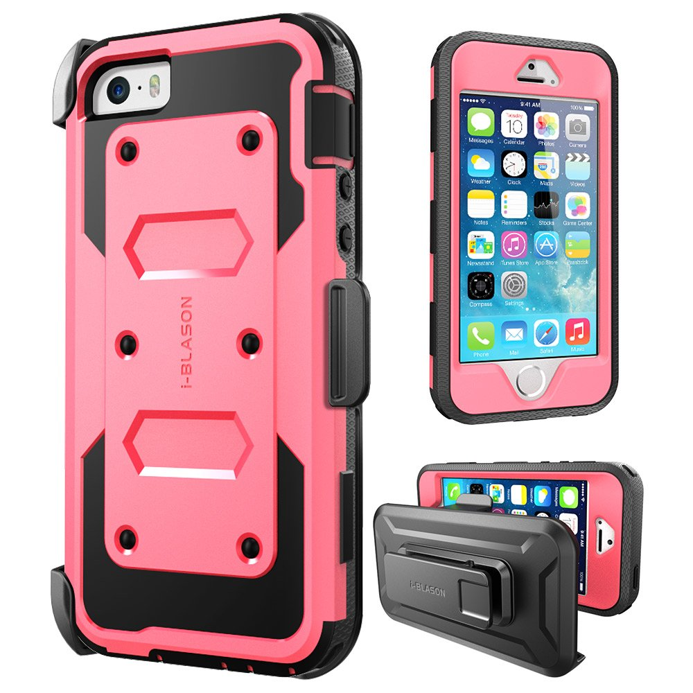 iPhone 5/5s/SE Case, [Armorbox] i-Blason built in [Screen Protector] [Full body] [Heavy Duty Protection ]/Holster/Bumper Case for Apple iPhone SE 2016 Release/Compatible with iPhone 5S/5 iPhone5SE-Armorbox-Black