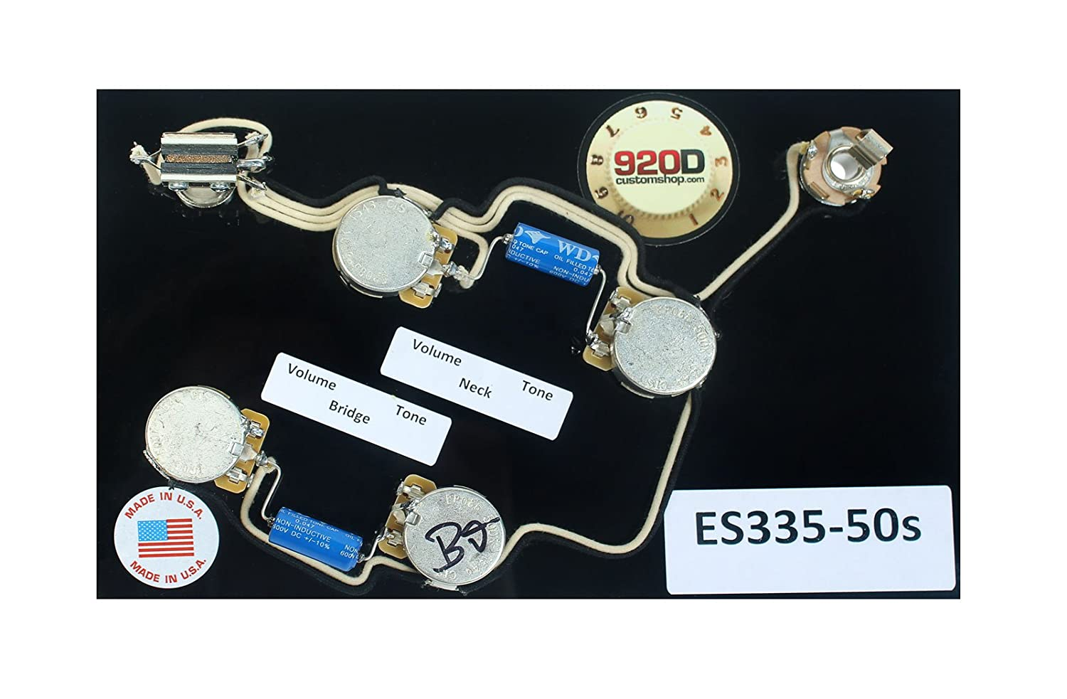 71WKu5VvXoL._SL1500_ amazon com 920d es 335 50's wiring harness for gibson cts Epiphone Pickup Wiring at eliteediting.co