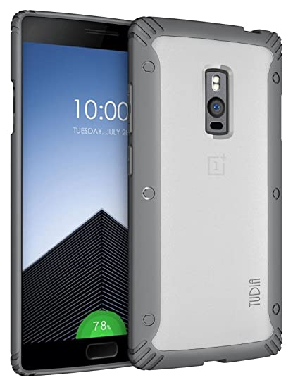 promo code 9bcc4 1eae9 OnePlus 2 Case - TUDIA Scratch Resistant LUCION Lightweight Hybrid Matte  Back Panel Protective Cover for The OnePlus Two (Gray)