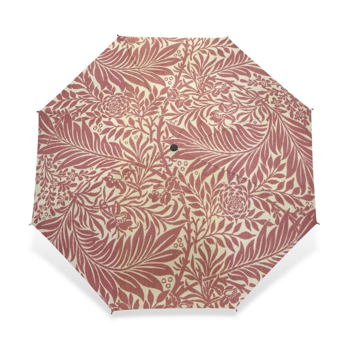 baihuishop防風ゴルフ傘、コンパクトで旅行for Easy Carryingスポーツ雨傘 – 強力なフレームUnbreakable William Morris印刷パターン   B01G3I8KZ4