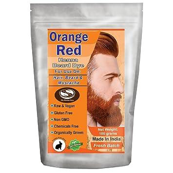 Amazon Com 1 Pack Of Orange Red Henna Beard Dye For Men 100