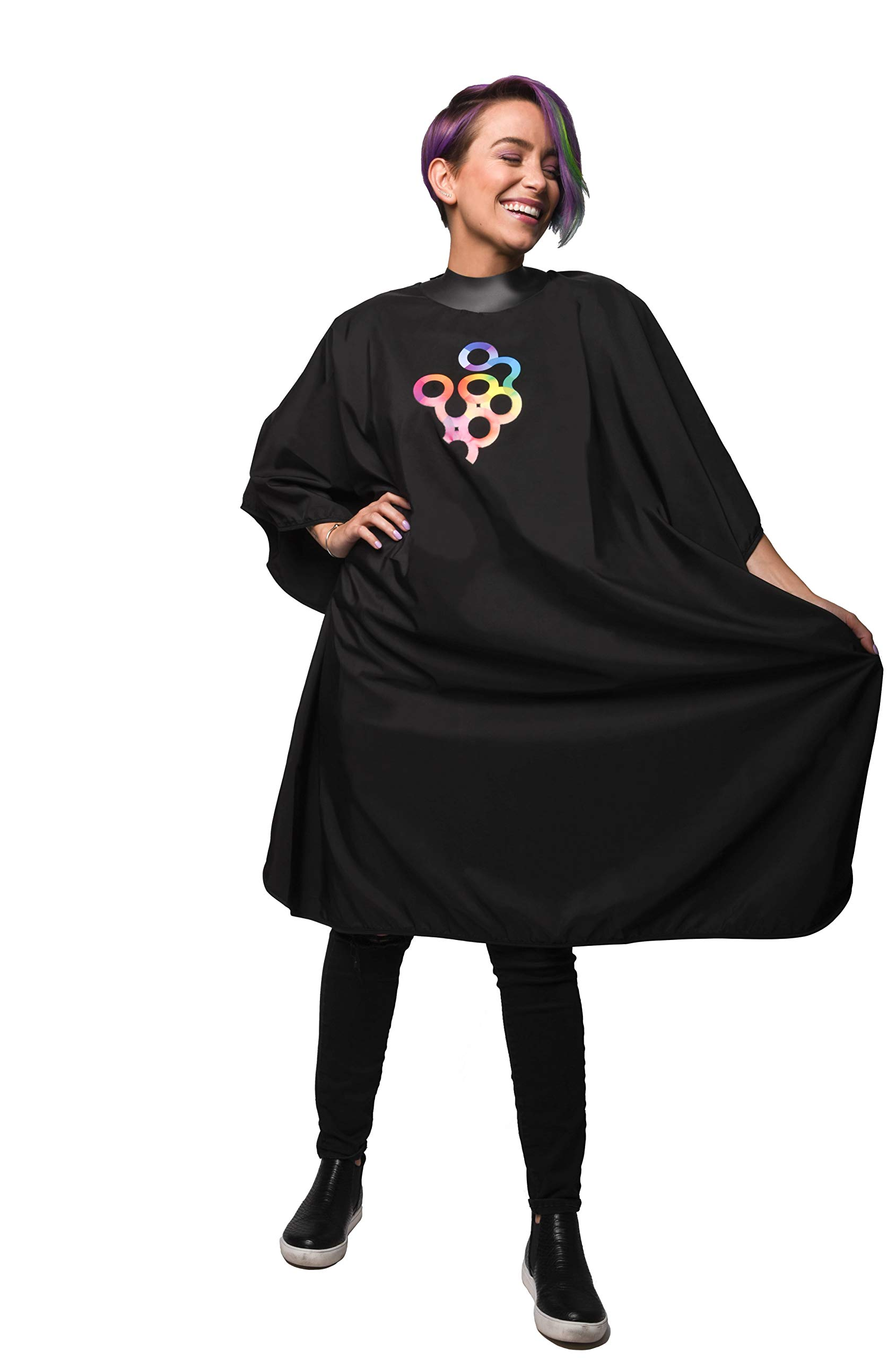 Framar Cutting Cover Haircut Cape - Hair Cutting Cape With Rubberized Neckline, Barber Cape, Salon Cape - Hair Cape for Cosmetology Supplies and Barber Supplies by FRAMAR